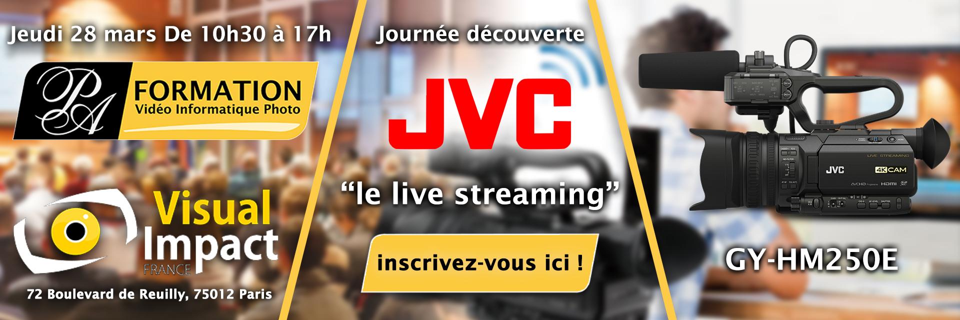 Journée découverte-JVC-live streaming-PA-FORMATION
