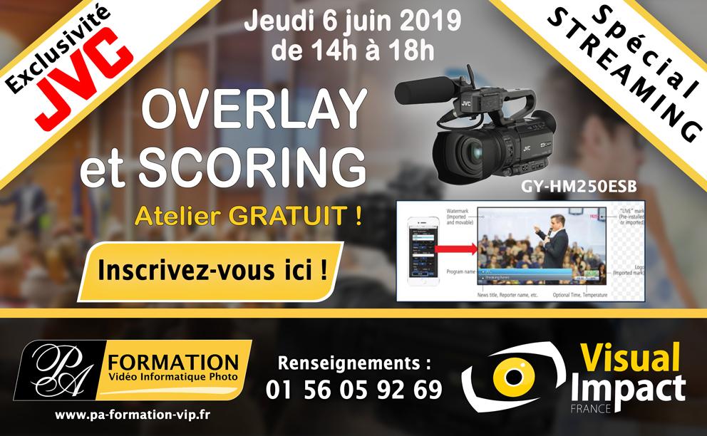Atelier OVERLAY & SCORING JVC GY-HM250 ESB