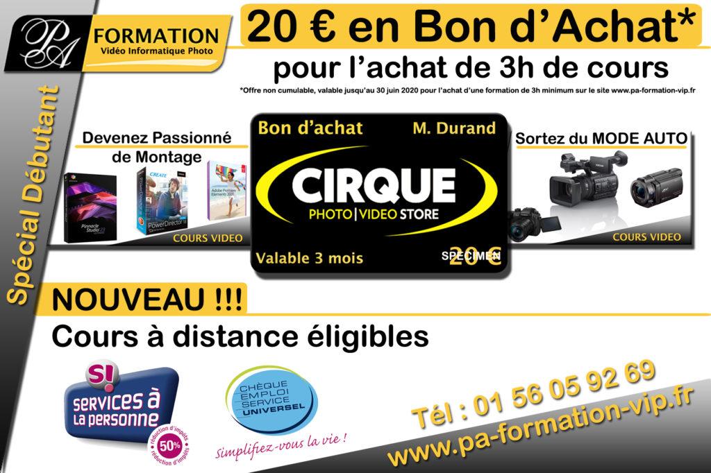 20€ en bon d'achat Chez Cirque Photo Vidéo